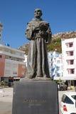 Memoriale al sacerdote di Zef Pllumi Albanian Franciscan in Shengjin, Albania fotografia stock libera da diritti