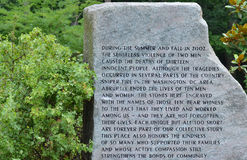 Memoriale alle vittime del tiratore franco di CC Fotografia Stock