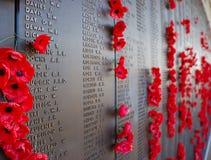 Memoriale australiano di guerra Fotografia Stock Libera da Diritti
