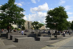 Memoriale Berlino di olocausto Fotografie Stock