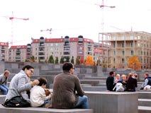 Memoriale Berlino di olocausto Immagine Stock Libera da Diritti