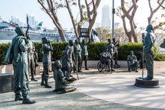 Memoriale a Bob Hope ed i militari a San Diego fotografie stock