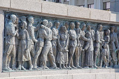 Memoriale a Burgas, Bulgaria Immagine Stock