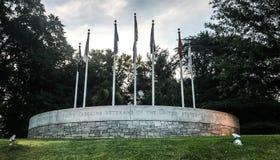 Memoriale a Carolina Veterans del sud delle forze armate degli Stati Uniti fotografie stock libere da diritti