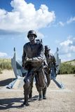Memoriale d'atterraggio di invasione della spiaggia dell'Utah, Normandia, Francia fotografia stock