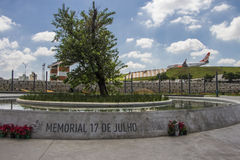 Memoriale del 17 luglio (volo 3054) - São Paulo Fotografie Stock
