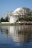 Memoriale del Jefferson un giorno pieno di sole libero Immagine Stock