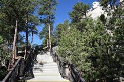 Memoriale del monte Rushmore dai presidenti Trail Fotografia Stock Libera da Diritti