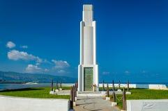 Memoriale del parco della spiaggia di Haleiwa Immagini Stock Libere da Diritti