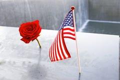 Memoriale 11 del ` s 9 di NYC al ground zero del World Trade Center Fotografie Stock Libere da Diritti