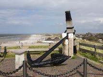Memoriale dell'ancora di Norderney, Germania Fotografia Stock Libera da Diritti