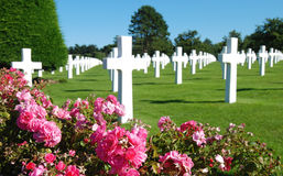Memoriale della Normandia WW2, Francia Fotografia Stock