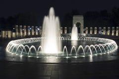 Memoriale della seconda guerra mondiale alla notte Fotografia Stock Libera da Diritti