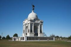 Memoriale dello stato della Pensilvania sul campo di battaglia di Gettysburg Fotografie Stock Libere da Diritti