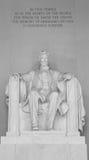 Memoriale di Abraham Lincoln Fotografie Stock