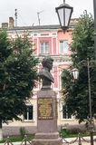Memoriale di generale Seslavin nella città di Ržev, regione di Tver', Russia Fotografie Stock