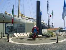 Memoriale di guerra di Anzio sulla costa a sud di Roma, Italia immagine stock