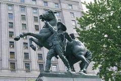 Memoriale di guerra boera nel quadrato di Dorchester, Montreal, Quebec, Canada Fotografie Stock