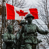 Memoriale di guerra canadese Fotografie Stock