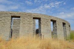Memoriale di guerra concreto di Maryhill Stonehenge Immagini Stock Libere da Diritti