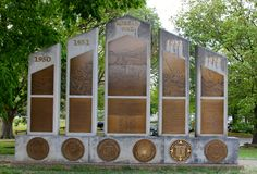 Memoriale di guerra di Corea degli Stati Uniti d'America fotografia stock
