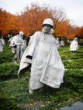 Memoriale di guerra di Corea in Washington d.c. Fotografia Stock Libera da Diritti