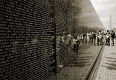 Memoriale di guerra di Vietnam Fotografia Stock