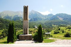 Memoriale di guerra Dreznica esterno Immagini Stock