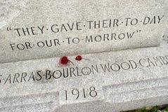 Memoriale di guerra mondiale Fotografia Stock