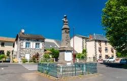 Memoriale di guerra nel villaggio di Roffiac, Francia fotografia stock libera da diritti