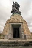 Memoriale di guerra sovietico nel parco di Treptower, panorama di Berlino, Germania Fotografia Stock