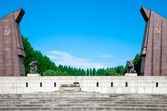 Memoriale di guerra sovietico, parco di Treptower, Immagini Stock Libere da Diritti