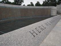 Memoriale di guerra in Washington DC Fotografie Stock