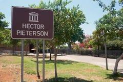 Memoriale di Hector Pieterson Immagine Stock