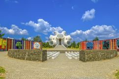 Memoriale di Ilinden - di Makedonium in Krusevo, Macedonia immagine stock libera da diritti