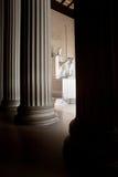 Memoriale di Lincoln, DC di Washington alla notte C Immagini Stock Libere da Diritti