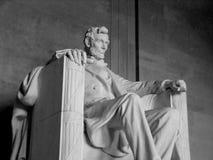 Memoriale di Lincoln della statua di Lincoln @ Fotografie Stock Libere da Diritti