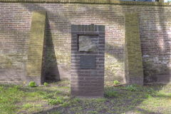 Memoriale di Mauthausen sul vecchio memoriale del cimitero da morire a Hilversum Fotografia Stock