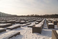 Memoriale di olocausto Fotografia Stock