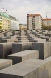 Memoriale di olocausto a Berlino Fotografie Stock Libere da Diritti