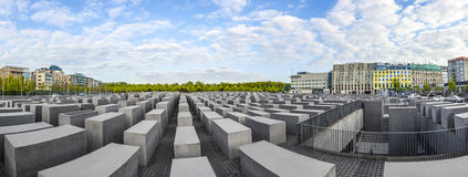 Memoriale di olocausto a Berlino Fotografie Stock