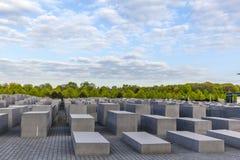 Memoriale di olocausto a Berlino Immagini Stock