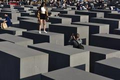 MEMORIALE di OLOCAUSTO, Berlino, Germania Fotografia Stock