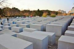 Memoriale di olocausto, a Berlino, la Germania Fotografia Stock Libera da Diritti
