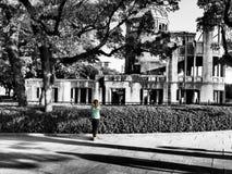 Memoriale di pace di Hiroshima, Giappone Il filtro da BW si ? applicato immagini stock libere da diritti