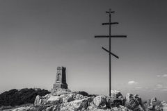 Memoriale di Shipka immagine stock
