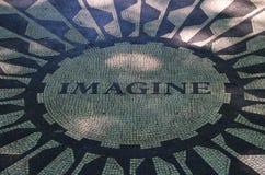 Memoriale di Strawberry Fields, New York fotografie stock libere da diritti