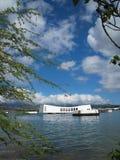 Memoriale di USS Arizona - vista del litorale Immagini Stock Libere da Diritti