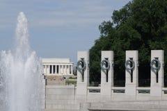 Memoriale di WW ii in DC di Washington Fotografia Stock Libera da Diritti