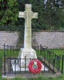 Memoriale di WWI con i papaveri immagine stock libera da diritti